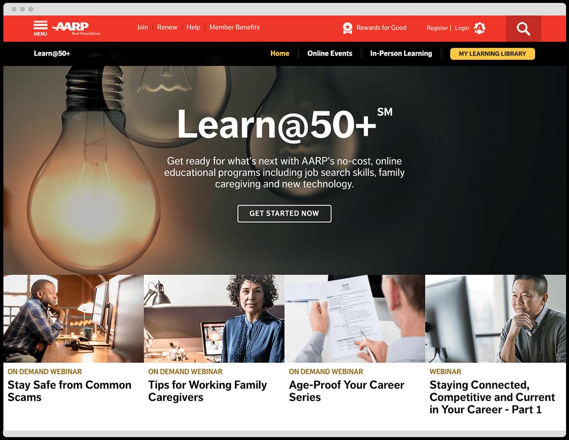 Aarp Learn 50 Plus